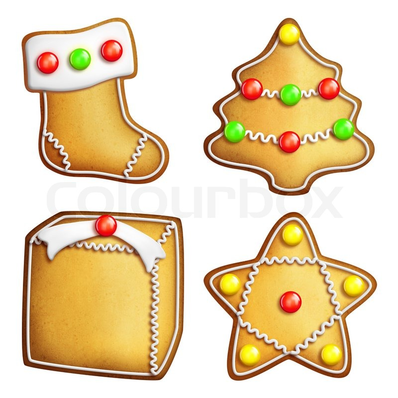 Stock image of 'Cartoon Gingerbread Cookies'