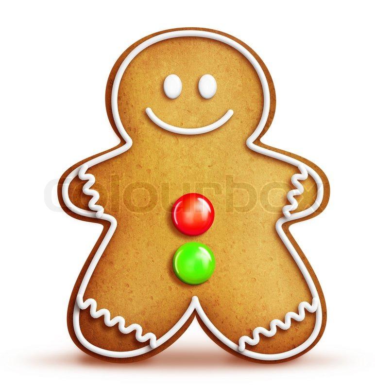 Cartoon Christmas Gingerbread Man Cartoon gingerbread man