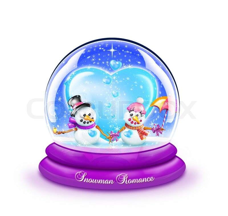 Swimming Snow Globes Snow Globe With Boy And Girl