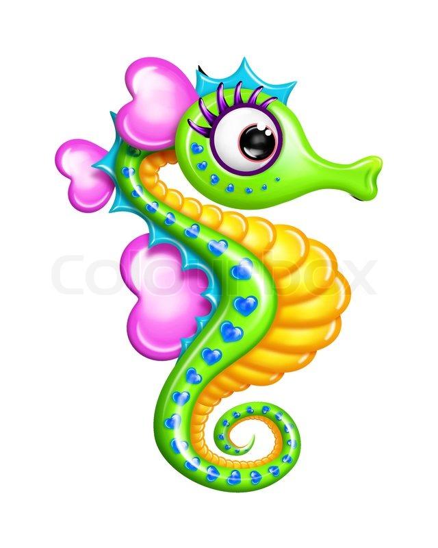 Cartoon Baby Seahorse seahorse stock photos colourbox.com