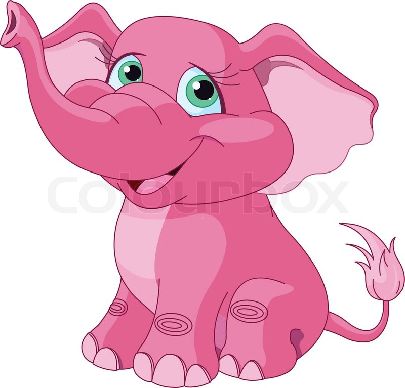 Pink elephant | Stock Vector | Colourbox