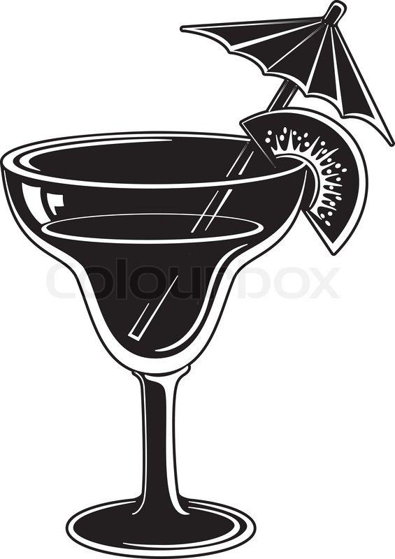 Glas mit Getränk, schwarz-Piktogramm | Vektorgrafik | Colourbox