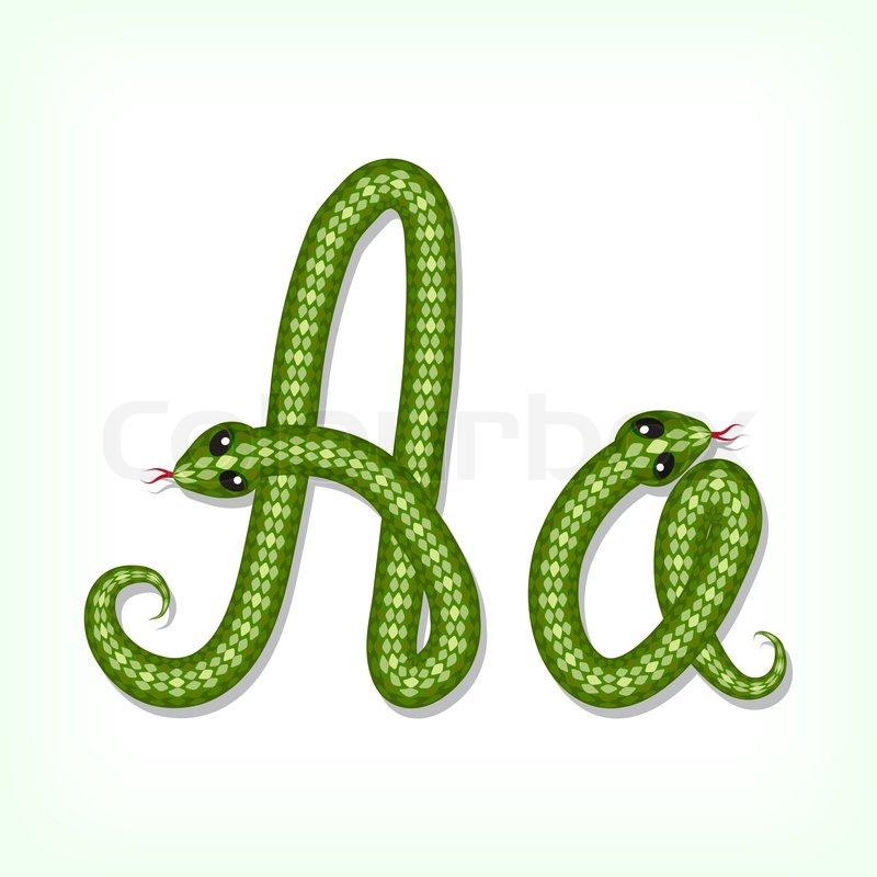 S Snake Font Schlange Schriften Buc...