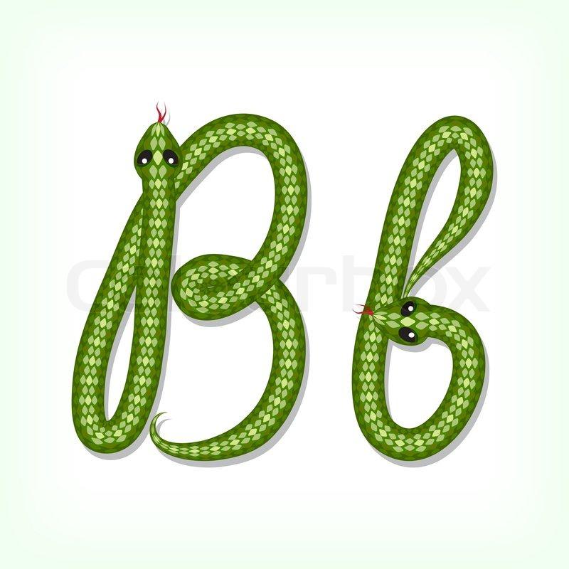 S Snake Font Schlange Schrift Buchs...