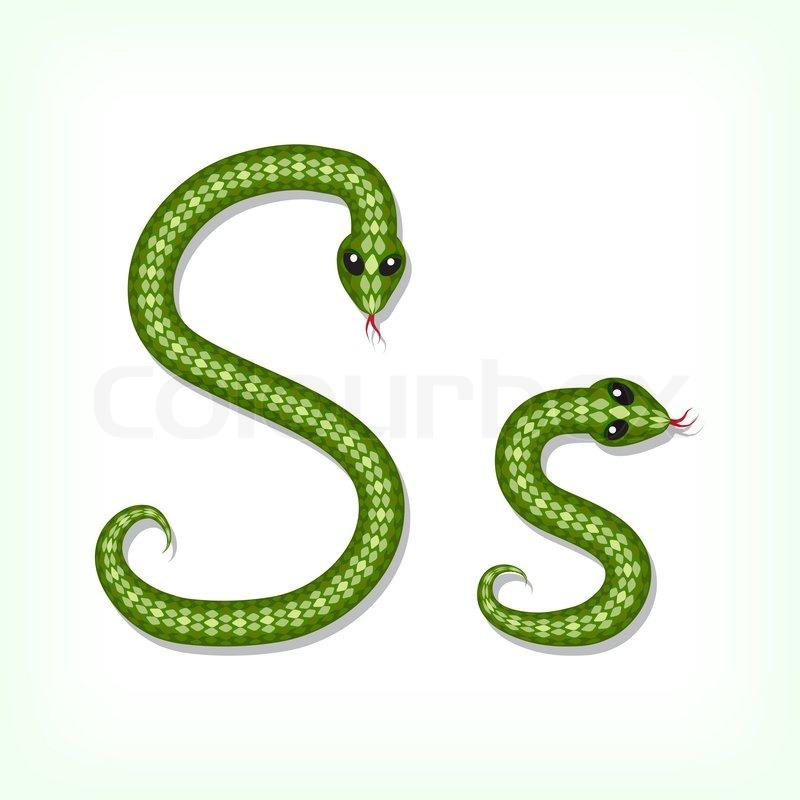 Snake Font Letter S Vector 4608043 on Cute Animal Reading Log