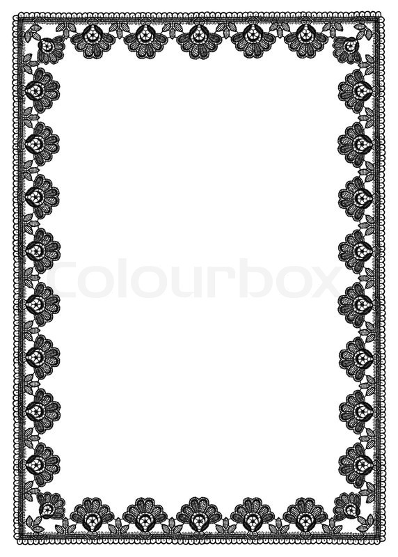 frame of floral pattern lace