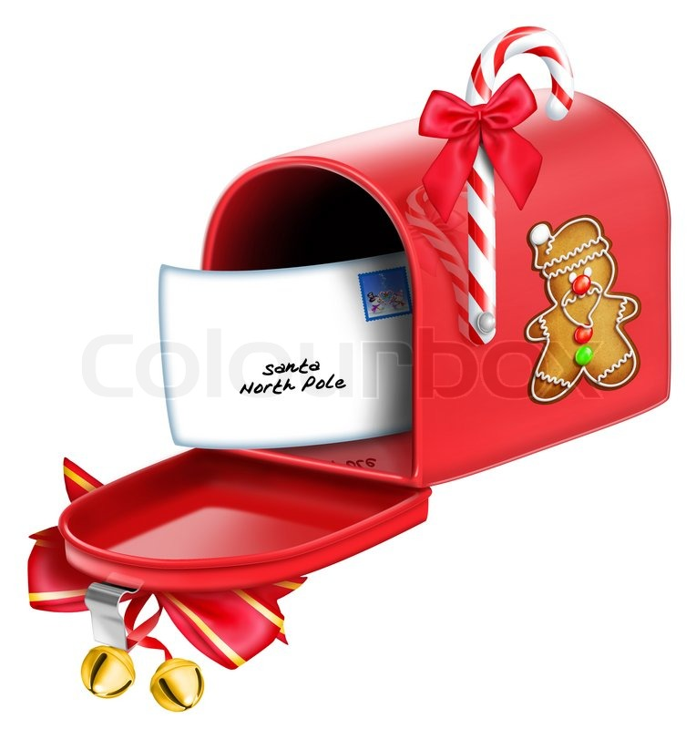 christmas mailbox with letter stock photo colourbox Mailbox Clip Art Black and White mailbox clipart free