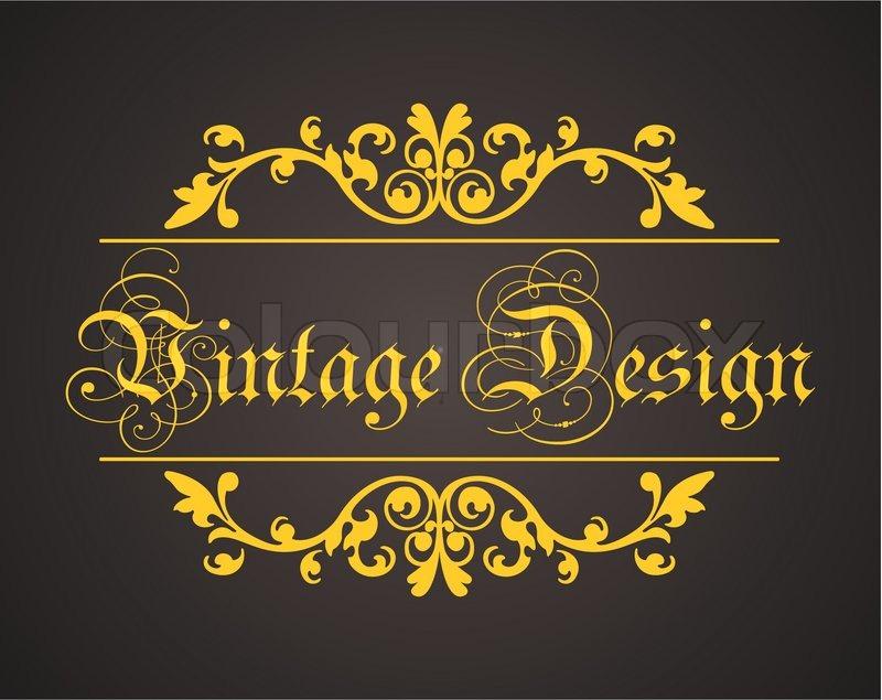 VINTAGE DESIGN LABEL LOGO ART VECTOR.   Stock Vector   Colourbox