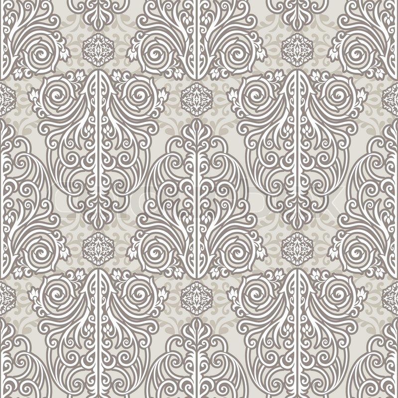 Abstract beautiful background royal damask ornament for Antique style decoration