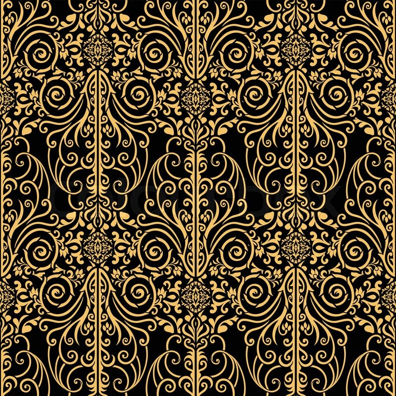Abstract Beautiful Background Royal Damask Ornament Vintage Rich Seamless Pattern Luxury Artistic Vector Wallpaper Floral Oldest Style Fashioned