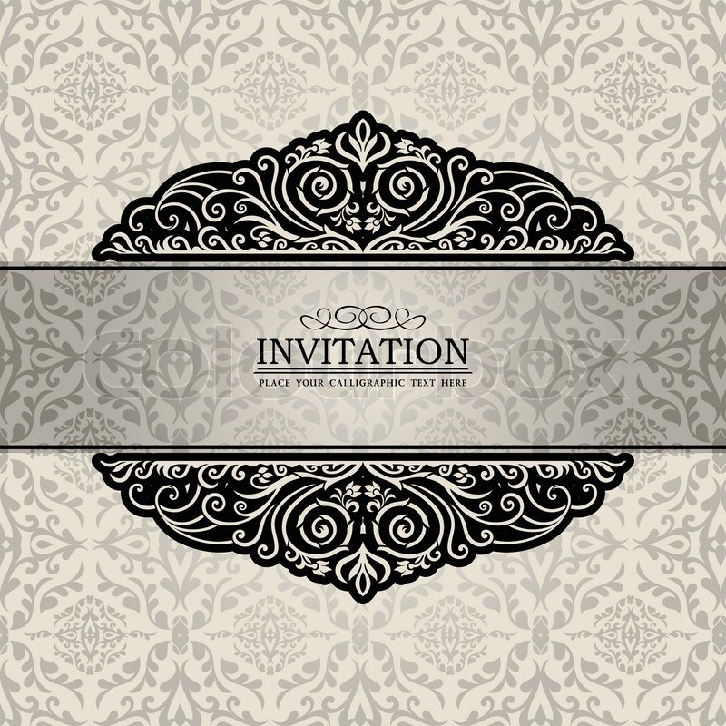 Damask Invitation Template for good invitation layout