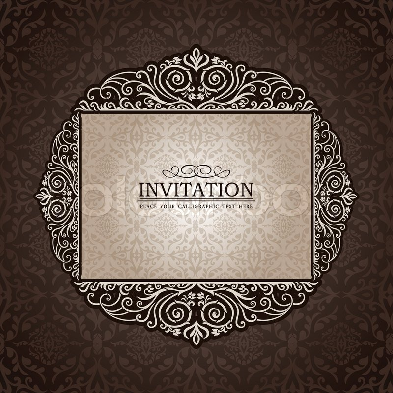 Abstract background with exclusive, antique, luxury ...