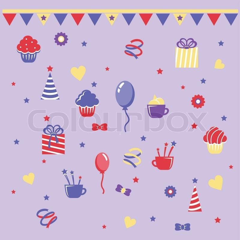 birthday clipart stock vector colourbox rh colourbox com microsoft happy birthday clip art microsoft word happy birthday clip art