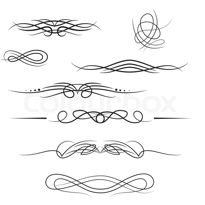 Line Separator Calligraphy Stock Vector Colourbox