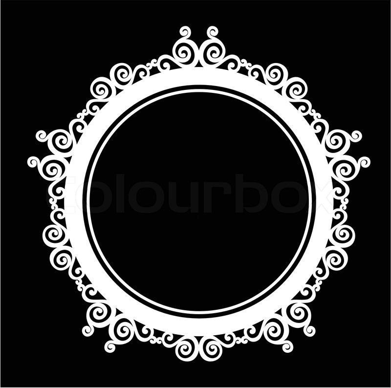Circle Ornamental vintage baroque frame. | Stock Vector