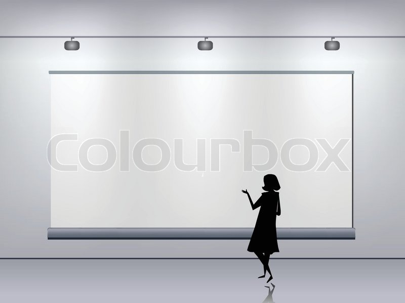 Presentation advertising board Vector | Vector | Colourbox
