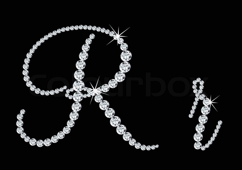 Diamond alphabetic upp...M Letter In Black Diamonds
