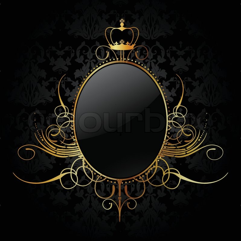 Royal Background With Golden Frame Vector Stock