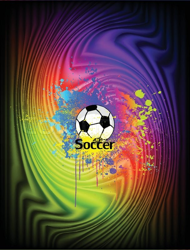 Abstract ink background with soccer ball vector stock vector abstract ink background with soccer ball vector stock vector colourbox voltagebd Images