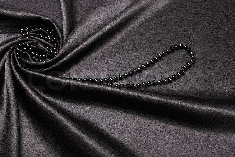 Black silk fabric background | Stock Photo | Colourbox
