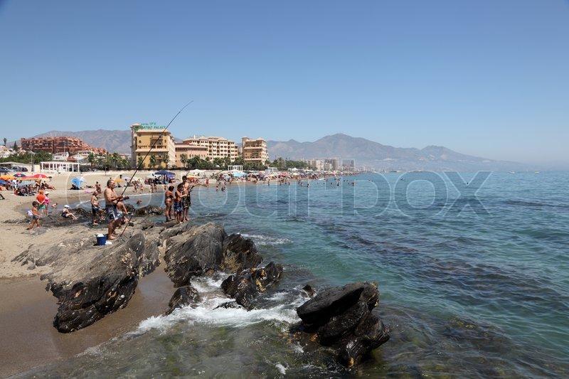 b152bb370de21b Beach in Fuengirola, Costa del Sol, ... | Stock Photo | Colourbox