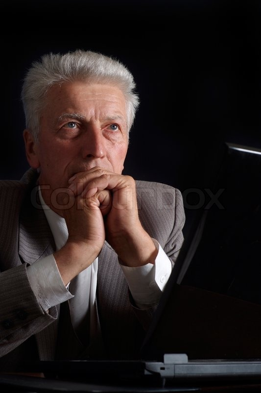 Pensive old man in suit stock photo colourbox publicscrutiny Images