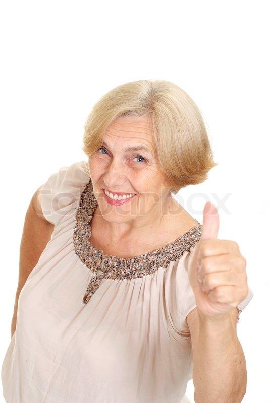 pretty old lady | stock photo | colourbox