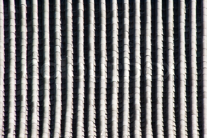 Clay Tiles On A Roof Of Chinese Temple Stock Photo