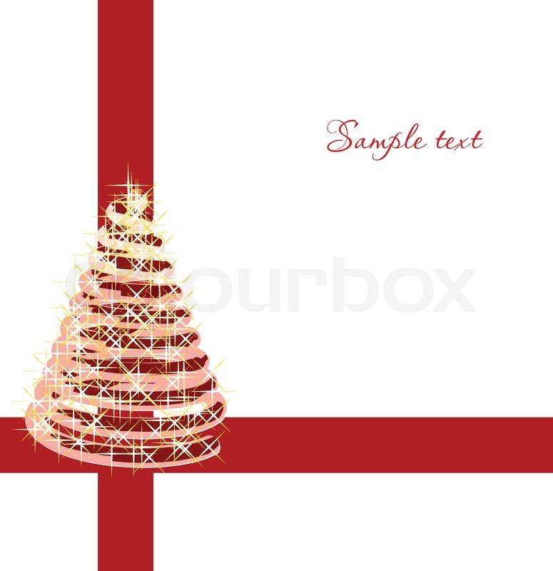 Abstrakt rot weihnachtsbaum vektor vektorgrafik colourbox - Weihnachtsbaum vektor ...