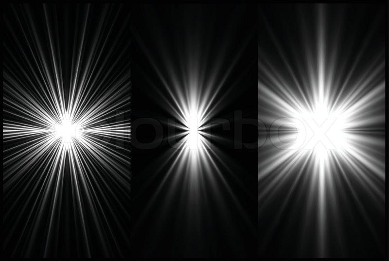 Set Black And White Lighting Background Vector Stock