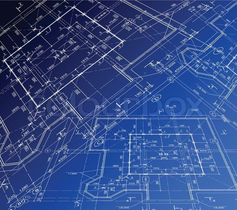 4620489-house-plan-vector-blueprint Draw A Blueprint Of Dream House Floor Plan on
