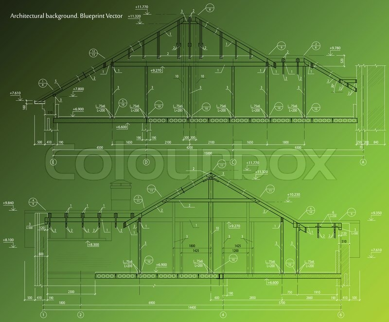 House facade on green background vector blueprint stock vector house facade on green background vector blueprint stock vector colourbox malvernweather Images