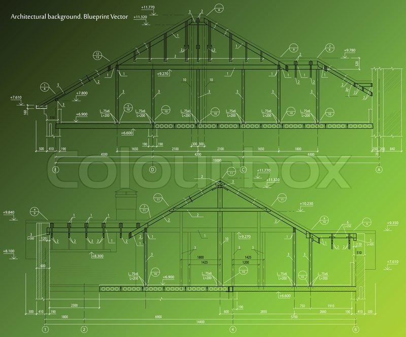 House facade on green background vector blueprint stock vector house facade on green background vector blueprint vector malvernweather Images