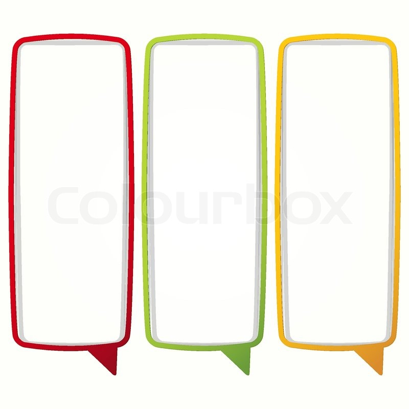 Colorful Speech Bubble Frames Labels In The Form Of An Empty Frame