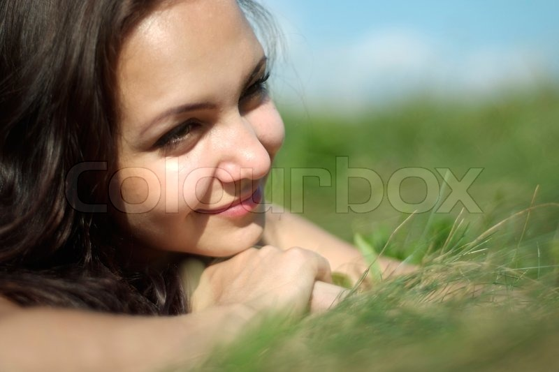 Beutiful beutiful girl on the nature | stock photo | colourbox