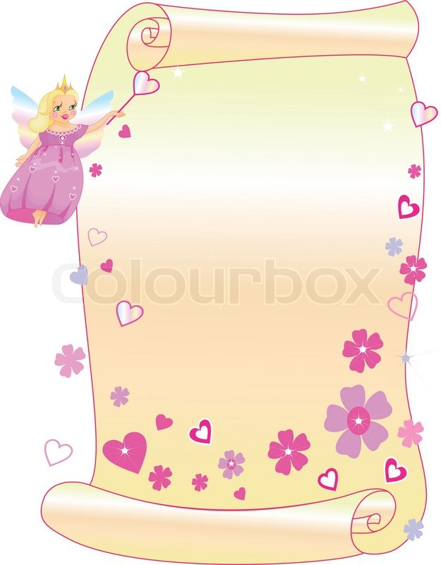 The princess and the scroll | Stock Vector | Colourbox