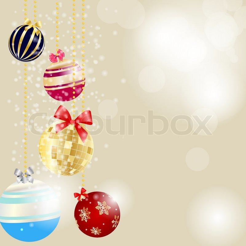 abstract beauty christmas and new year background vector illustration stock vector colourbox