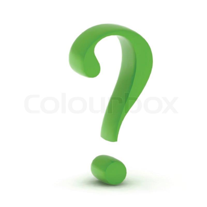 Green Question Mark Person Green question mark isolatedQuestion Mark Person Green