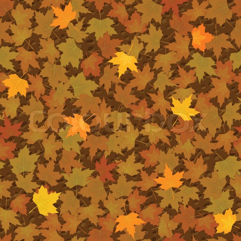 Autumn Yellow Maple Leaf Seamless Pattern Stock Vector Colourbox Extraordinary Maple Leaf Pattern