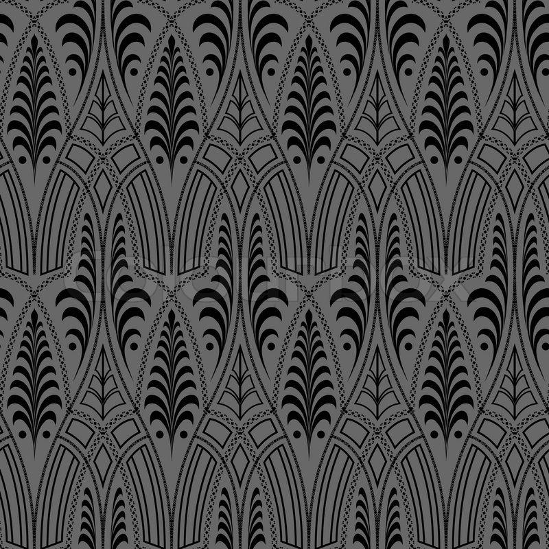 Nahtlose schwarze tapete muster vektorgrafik colourbox for Tapete muster