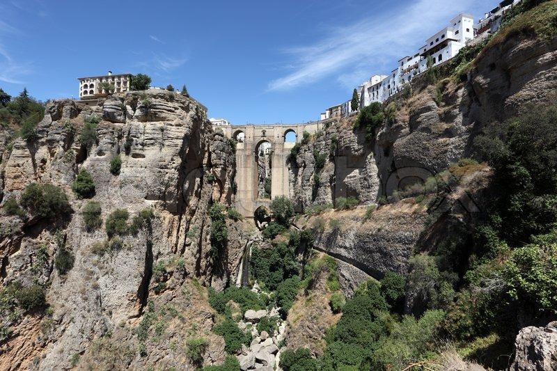 Famous bridge Puente Nuevo in Ronda, Andalusia Spain | Stock Photo ...: https://www.colourbox.com/image/famous-bridge-puente-nuevo-in-ronda...