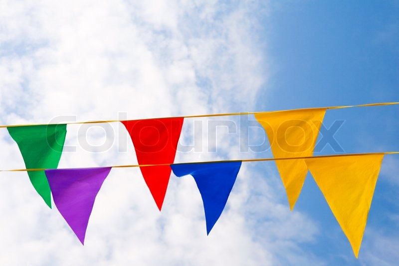 colorful triangle flag banner stock photo colourbox