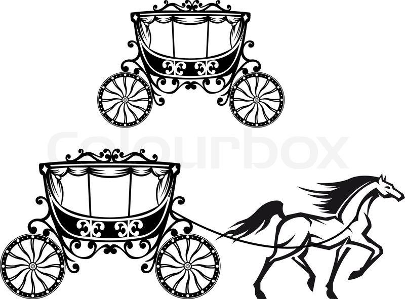 Pferd Mit Wagen