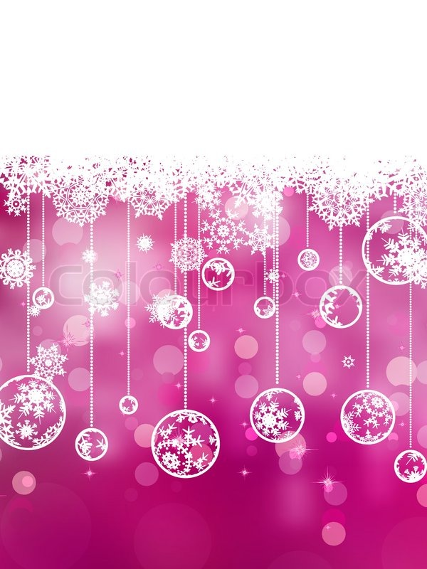 pink background with snowflakes eps 8 stock vector colourbox