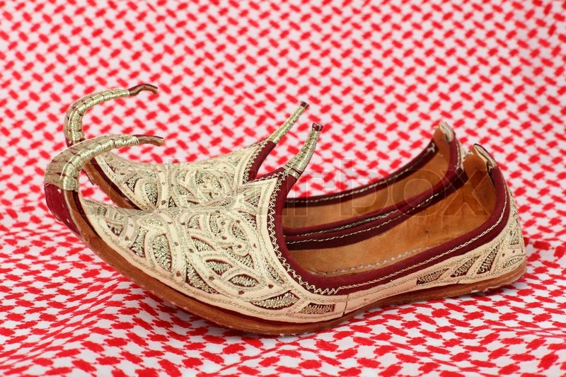 4b1d59c88c02b Traditional oriental shoes over arabic ... | Stock image | Colourbox