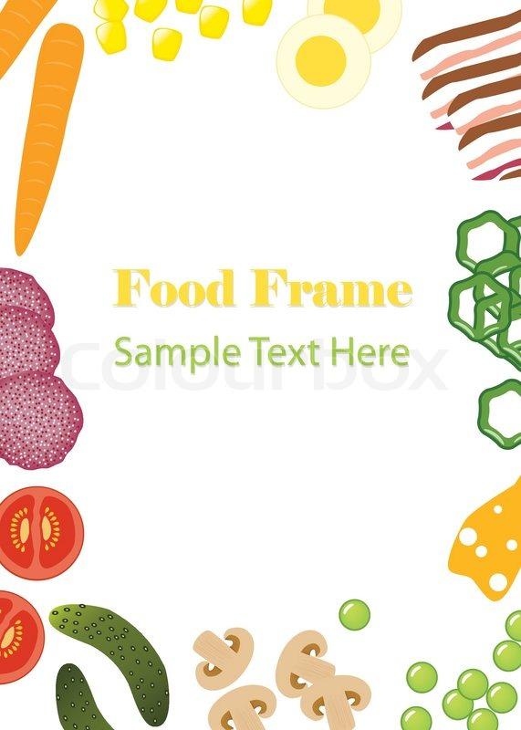 Food frame | Stock Vector | Colourbox
