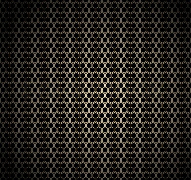 Gold honeycomb background   Stock Vector   Colourbox