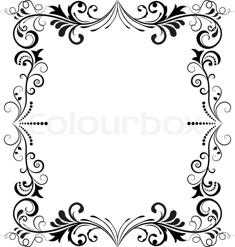 vintage black frame. Black And White Vintage Vertical Vector Frame. | Stock Colourbox Frame K