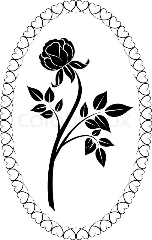 Simple Rose Drawings Black and White
