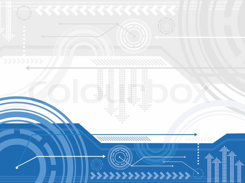 Stock vector of 'Technology inspired background in blue, white and gray.'